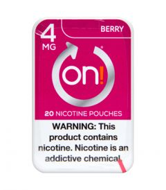 on! 4mg Berry Nicotine Pouches