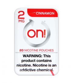 on! 2mg Cinnamon Nicotine Pouches