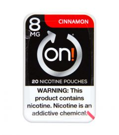 on! 8mg Cinnamon Nicotine Pouches