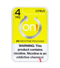 on! 4mg Citrus Nicotine Pouches