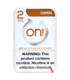 on! 2mg Coffee Nicotine Pouches