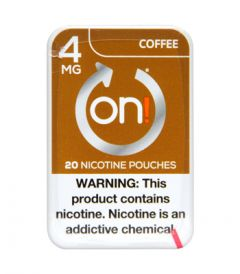 on! 4mg Coffee Nicotine Pouches