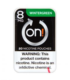 on! 8mg Wintergreen Nicotine Pouches