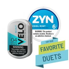 Zyn & Velo Strong Cool Mint Duet, Nicotine Pouches