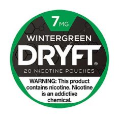 Dryft 7mg Wintergreen Nicotine Pouches