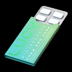 Lucy Wintergreen 4mg, Nicotine Gum