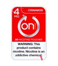 on! 4mg Cinnamon, Nicotine Pouches