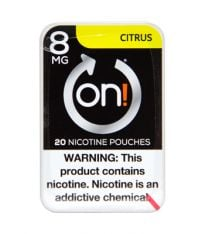 on! 8mg Citrus, Nicotine Pouches