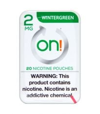on! 2mg Wintergreen Nicotine Pouches