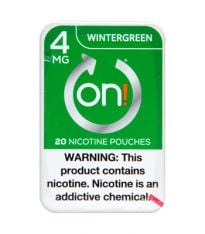 on! 4mg Wintergreen, Nicotine Pouches